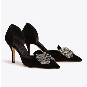 Tory Burch Esme D'Orsay Embellished Pumps